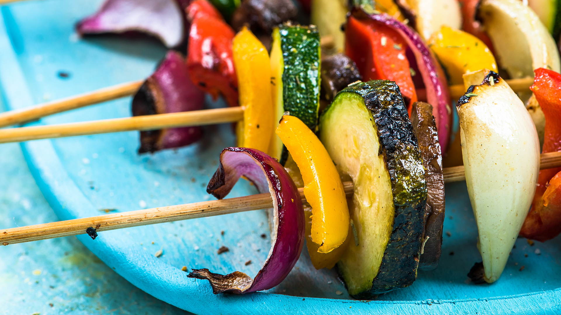 Colorful party food for vegetarians