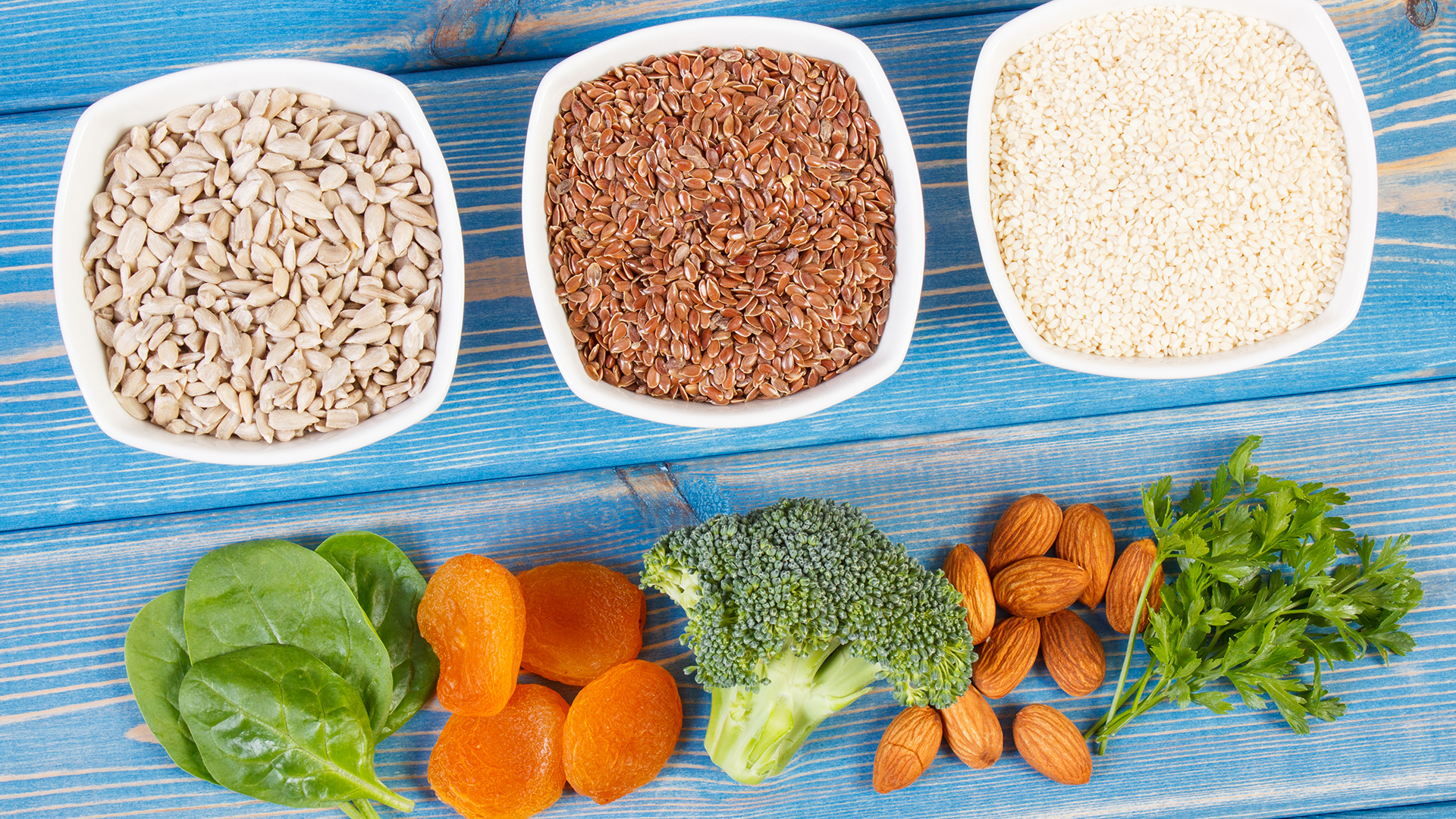 Products and ingredients containing calcium, minerals and dietary fiber, healthy nutrition