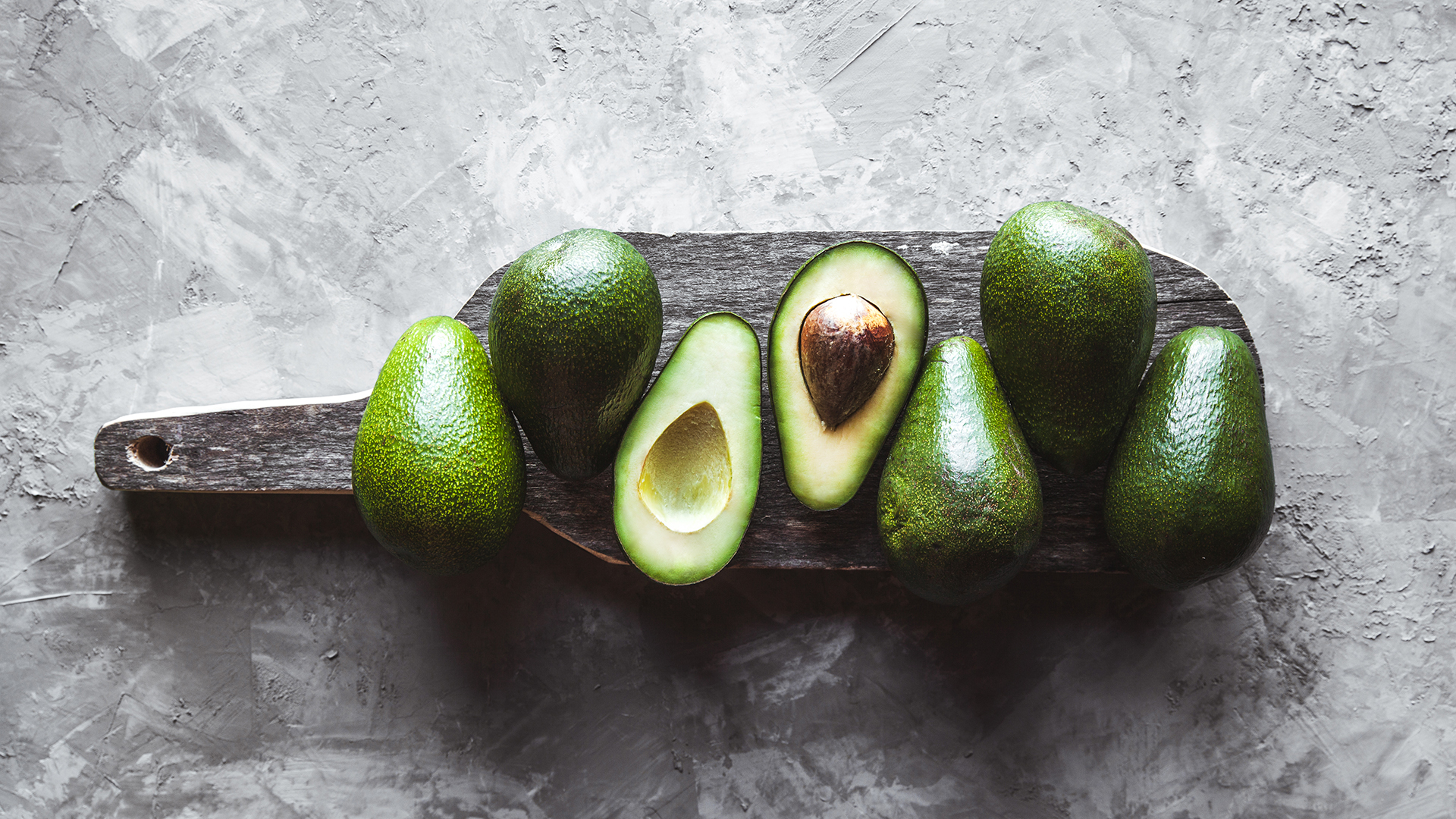 Avocado. Food on the table